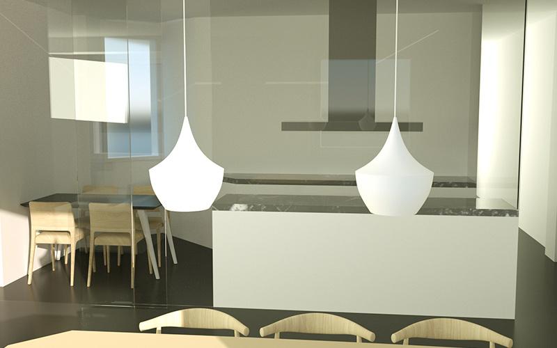 proyecto e infografia 3D en zaragoza cocina